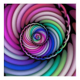 Impresión Acrílica Tienda espiral del caramelo del fractal