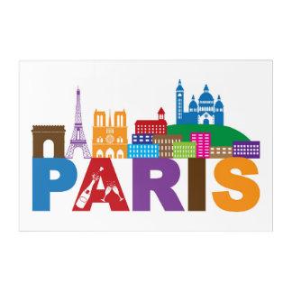 Impresión Acrílica Tipografía colorida de París, Francia el |