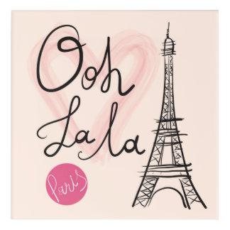 Impresión Acrílica Torre Eiffel dibujada mano