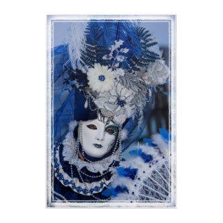 Impresión Acrílica Traje azul del carnaval, Venecia