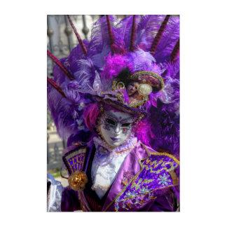 Impresión Acrílica Traje del carnaval, Venecia