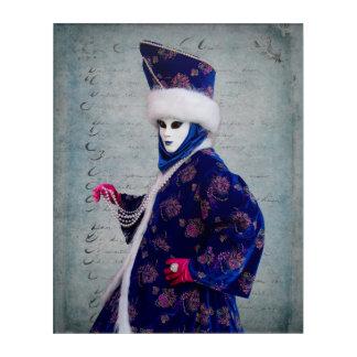 Impresión Acrílica Traje elaborado del carnaval, Venecia