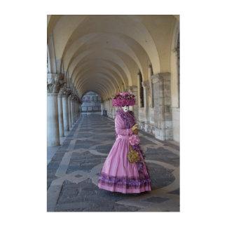 Impresión Acrílica Traje femenino del carnaval, Venecia