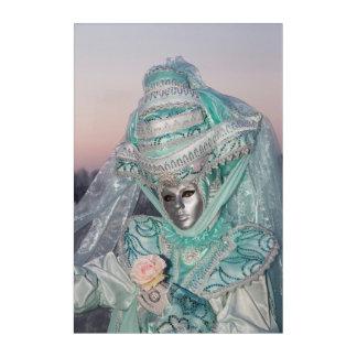 Impresión Acrílica Traje hermoso del carnaval, Venecia