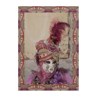 Impresión Acrílica Traje púrpura del carnaval, Venecia