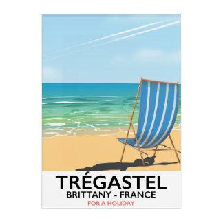 Impresión Acrílica Trégastel, poster de las vacaciones de la playa de