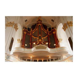 Impresión Acrílica Tubos de órgano de la iglesia