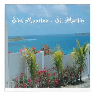 Impresión Acrílica Valla de estacas blanca en Sint Maarten