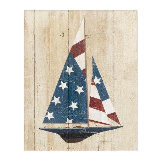 Impresión Acrílica Velero con la bandera americana