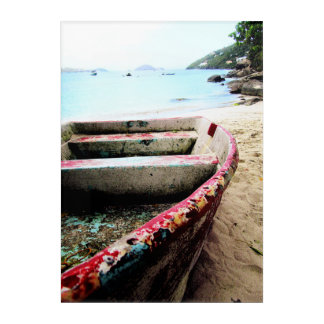 Impresión Acrílica Viaje náutico apenado Acryli de la playa del