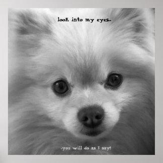 Impresión adorablemente linda del poster del perri