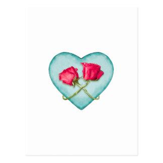 Impresión adornada del adorno del amor postal