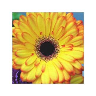 Impresión amarilla de la lona de la flor