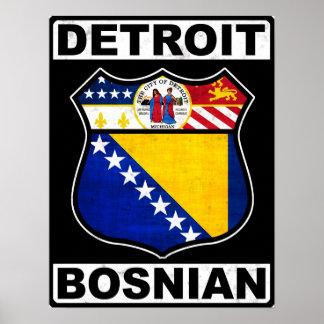 Impresión americana bosnio del poster de Detroit