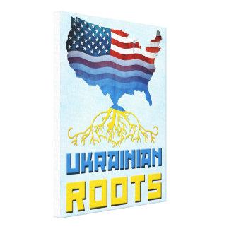 Impresión americana de la lona de las raíces del