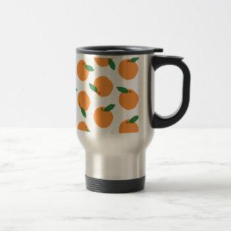 Impresión anaranjada de la fruta cítrica taza de café