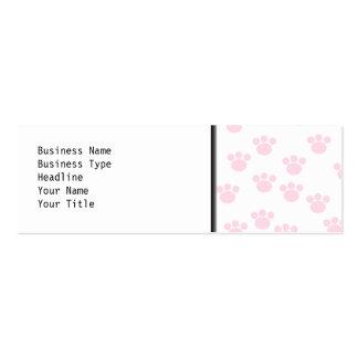Impresión animal de la pata. Modelo rosa claro y Tarjetas De Visita Mini
