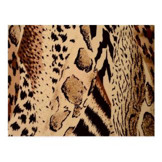 Impresión animal de la tela del safari postal