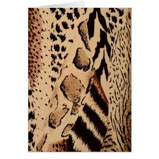 Impresión animal de la tela del safari felicitacion
