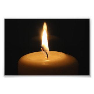 Impresión ardiente de la foto de la vela