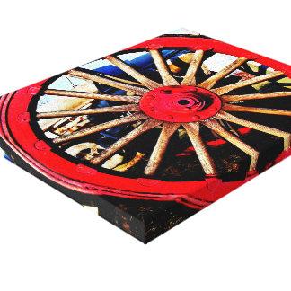 Impresión armada de la lona de la rueda impresion de lienzo