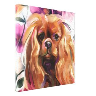 """Impresión arrogante """"de rubíes"""" del arte del perro"""
