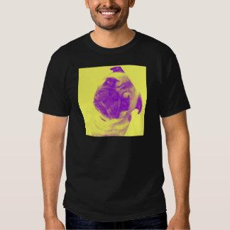 Impresión artista-inspirada amarilla y púrpura del camiseta