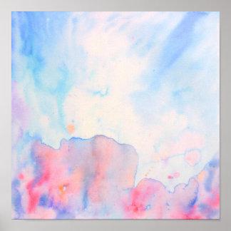 Impresión azul abstracta del paisaje de la