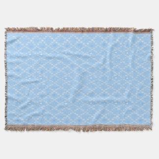 Impresión azul clara del modelo del diamante manta