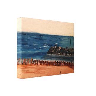 Impresión azul de la lona del lago Michigan Lona Estirada Galerias