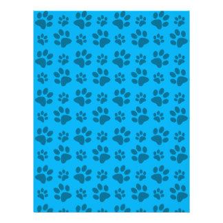Impresión azul de la pata del perro folleto 21,6 x 28 cm
