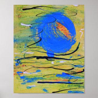 Impresión azul del extracto de la bola
