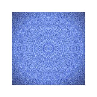 Impresión azul llamativa de la lona de la mandala