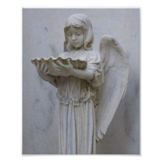 Impresión bautismal de la foto 8x10 del ángel