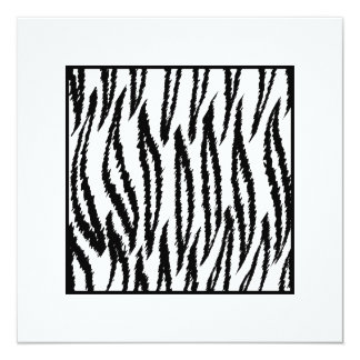 Impresión blanca del tigre. Modelo del tigre Invitación 13,3 Cm X 13,3cm