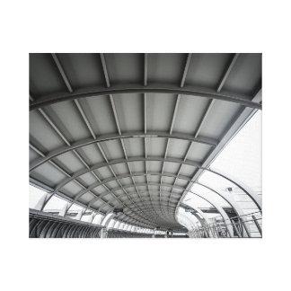 Impresión blanco y negro de la arquitectura