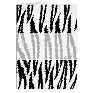 Impresión blanco y negro del tigre. Modelo del tig Tarjeta De Felicitación