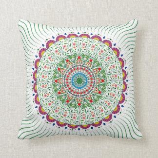 IMPRESIÓN BOHEMIA de la MANDALA, multicolora Cojín Decorativo