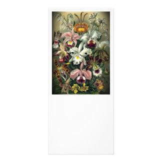Impresión botánica de la orquídea tarjeta publicitaria