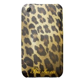 Impresión brillante de la piel del leopardo iPhone 3 cobreturas