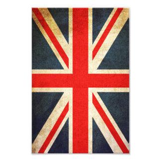 Impresión británica retra de la foto de la bandera