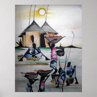 Impresión casera africana 3 de la decoración