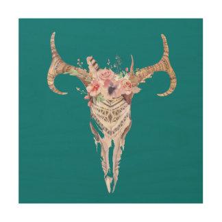 Impresión casera elegante del cuerno de Bull del Cuadro De Madera