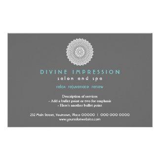 Impresión ciánica divina horizontal folleto 14 x 21,6 cm