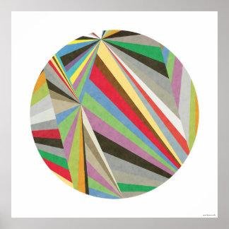 Impresión coloreada multi geométrica I del arte