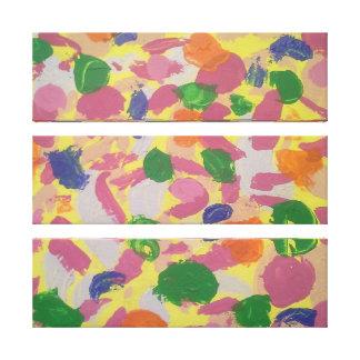 Impresión colorida de la lona de arte abstracto de