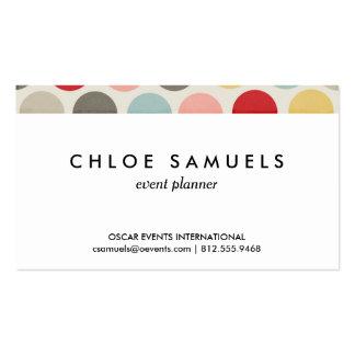 Impresión colorida del lunar de los círculos del tarjetas de visita