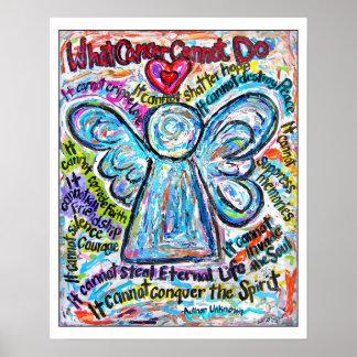 Impresión colorida del poster del arte del ángel