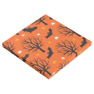 Impresión Con Bastidor Árbol fantasmagórico de Halloween con los palos y