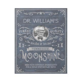 Impresión Con Bastidor Azul de encargo del vintage de la medicina del